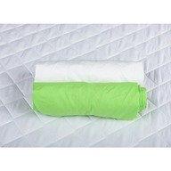 BabyNeeds Set 2xCearceaf cu elastic pt patut de 120x 60 cm verde+alb