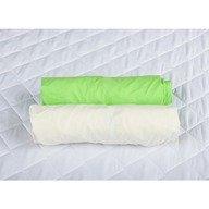 BabyNeeds Set 2xCearceaf cu elastic pt patut de 140x 70 cm verde+alb