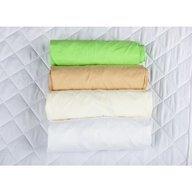 BabyNeeds Set 4xCearceaf cu elastic pt patut de 120x 60 cm cappucino+crem+alb+verde