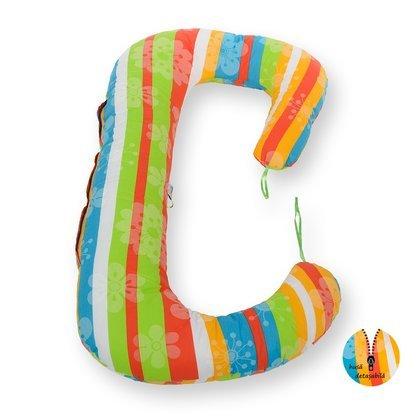 BabyNeeds Soft Plus - Perna 3 in 1 pentru gravide si bebelusi Curcubeu