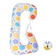 BabyNeeds - Perna 3 in 1 pentru gravide si bebelusi Soft Plus, Buline colorate