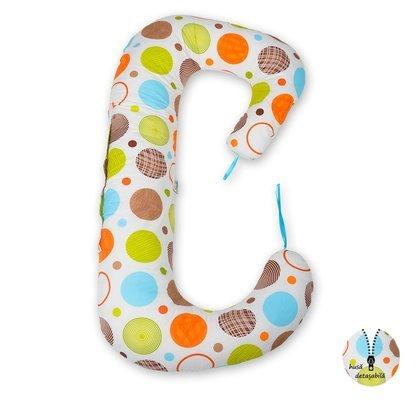 BabyNeeds - Perna 3 in 1 pentru gravide si bebelusi Soft Plus, Cerculete colorate
