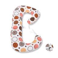 BabyNeeds - Perna 3 in 1 pentru gravide si bebelusi Soft Plus, Cerculete maro