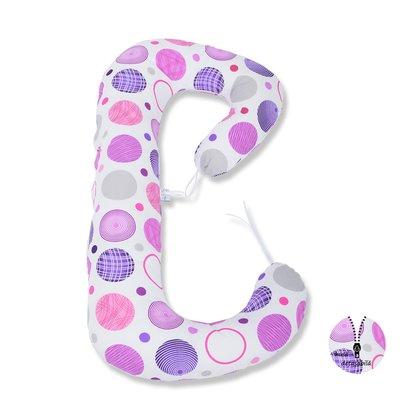 BabyNeeds Soft Plus - Perna 3 in 1 pentru gravide si bebelusi Cerculete mov