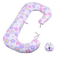 BabyNeeds - Perna 3 in 1 pentru gravide si bebelusi Soft Plus, Floricele mov