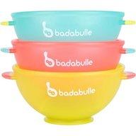 Badabulle - Set 3 boluri colorate pentru mancare