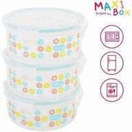 Badabulle - Set recipiente Maxi Ermetice ,  Pentru pastrarea hranei ,  500 ml