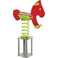 KBT - Balansoar pe arcuri hdpe ponei cu prindere in beton Rosu