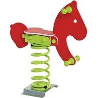 KBT - Balansoar pe arcuri hdpe ponei cu prindere pe beton Rosu, verde