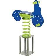KBT - Balansoar pe arcuri HDPE scuter cu prindere in beton Albastru, verde