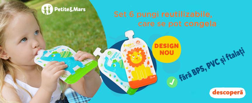 Pungi reutilizabile marca Petite&Mars