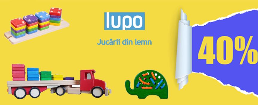 Promo Jucarii LUPO 40% REDUCERE