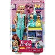 Mattel - Papusa Barbie Doctor pediatru , Cu accesorii