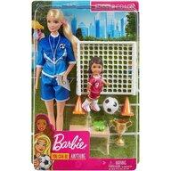 Mattel - Papusa Barbie Antrenor de fotbal , Blonda