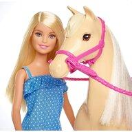 Mattel - Papusa Barbie , Cu cal, Multicolor