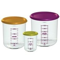 Beaba Set 3 recipiente ermetice pentru hrana 150ml, 300ml, 500ml