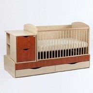 Bebe Design Patut bebelusi si copii Transformer EcoPlusFix natur-calvado PTE01.02
