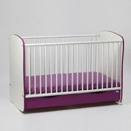Bebe Design Patut Clasic Confort Pastel cu sertar si leganare 120/60 PCCP04.06