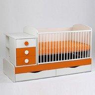 Bebe Design Patut Transformer Pastel cu leganare silence 170/70 PTP04.11