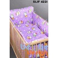 Bebe Design Set lenjerie imprimata 4 piese pentru patut 120 x 60 Funny