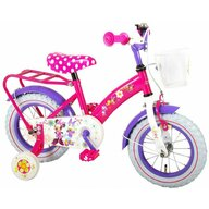 EandL Cycles - Bicicleta Minnie Mouse 12 inch cu portbagaj