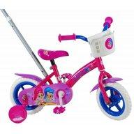 Volare - Bicicleta fete Shimmer and Shine, 10 inch, cu roti ajutatoare, maner parental, partial montata