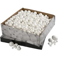 Creativ Company - Set creativ Bile si oua 1.5 - 6.1 cm, 550 buc din Polistiren