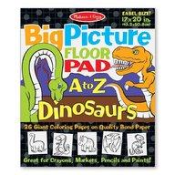 Melissa and Doug bloc gigant de colorat cu litere si dinozauri