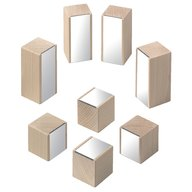 Haba - Blocuri de lemn cu oglinda,  8 piese, 1-8 ani