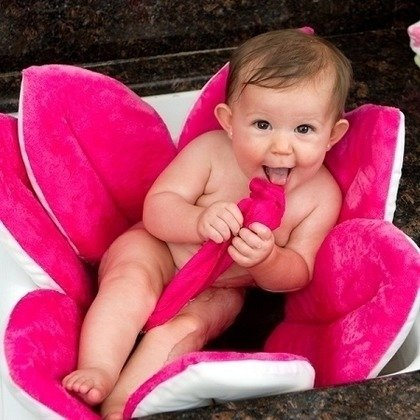 CuddleDry Prosop de baie roz/alb
