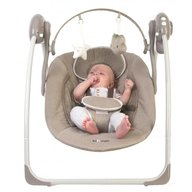 BO Jungle  - Leagan portabil Bej pentru bebelusi cu arcada jucarii