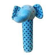 BoboBaby - Jucarie plus cu zornaitoare Elefant blue