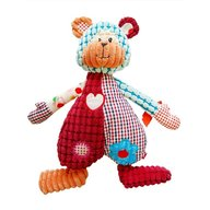 BoboBaby - Jucarie plusata in forma de inimioara patchwork Ursulet