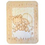 BoboBaby - Paturica plus in cutie 80x110 cm , Ursulet bej