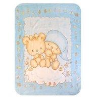 BoboBaby - Paturica plus in cutie 80x110 cm Ursulet blue