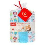BoboBaby Scutece textile pentru bebelusi 3 buc. - Albastru