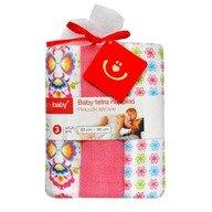 BoboBaby Scutece textile set 3 buc pink floricele