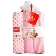 BoboBaby Scutece textile set 3 buc pink