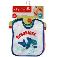 BoboBaby Set 3 bavete S-3SZT: rechin, maimuta, broasca testoasa
