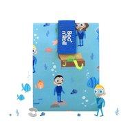 Roll'Eat - Ambalaj reutilizabil pentru sandwich Boc'n'Roll Kids Ocean, Albastru