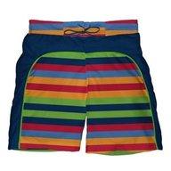 Iplay - Boxeri inot baieti cu scutec si insert integrat Splash, 6 luni, Stripes