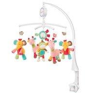 Brevi Soft Toys Carusel muzical Girafa, elefant, maimuta, soare - Safari