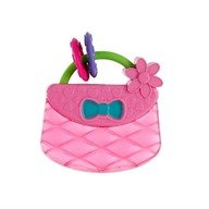 Bright Starts - Jucarie pentru dentitie Posetuta Pretty in Pink Carry & Teethe Purse