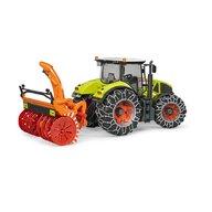 BRUDER - Tractor Claas Axion 950 , Cu lanturi, Cu freza de zapada