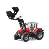 BRUDER - Tractor Massey Ferguston 7624 , Cu incarcator frontal