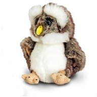 Keel Toys - Bufnita de plus 18 cm, Brown Owl