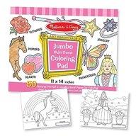 Melissa and Doug caiet jumbo cu desene pentru colorat roz