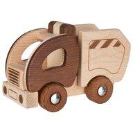 Goki Nature - Vehicul de lemn Camion de gunoi