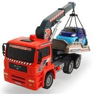 Dickie Toys - Camion de tractare Man Air Pump Crane Truck cu 1 masinuta