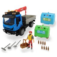 Dickie Toys - Camion Playlife Iveco Recycling Container Set cu figurina si accesorii